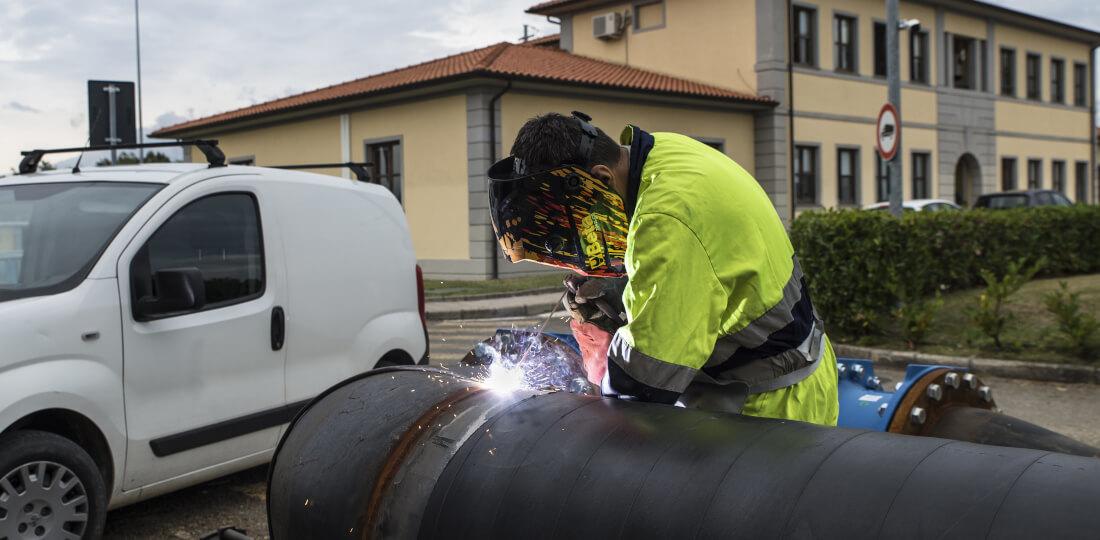 Controllo tubature acquedotto